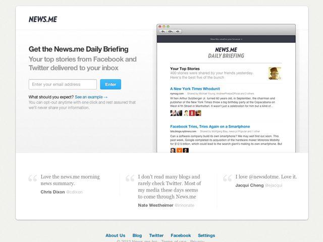 Victime de l'API de Twitter, News.me laisse tomber ses applications mobiles