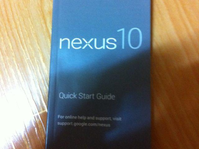 Nexus 10 : un manuel dans la nature