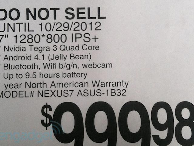 Une Nexus 7 32 Go dans sa boite