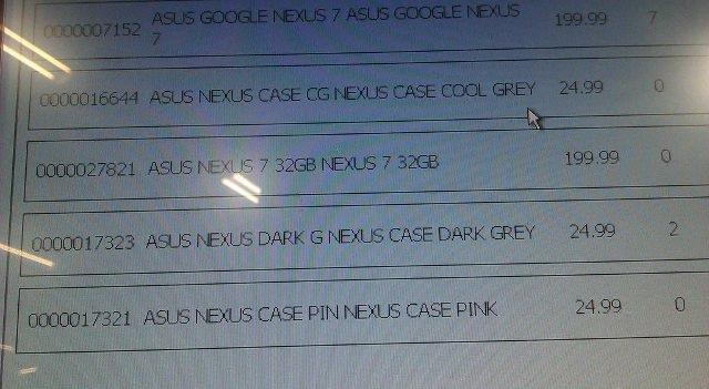 Nexus 7 : le prix de la version 32 Go !