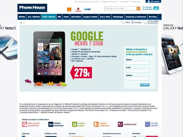 Nexus 7 : le modèle 32 Go fait son apparition en Espagne