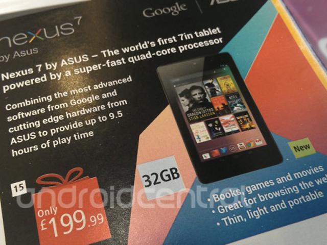 Nexus 7 32 Go : encore un indice, au Royaume-Uni cette fois !