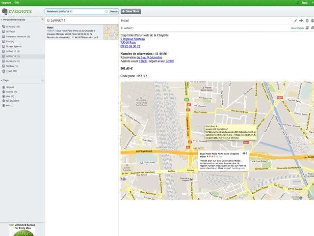 Evernote : une nouvelle interface pour le service web