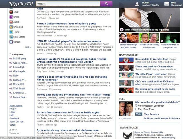 Yahoo : une nouvelle page d'accueil pour le portail d'actualités