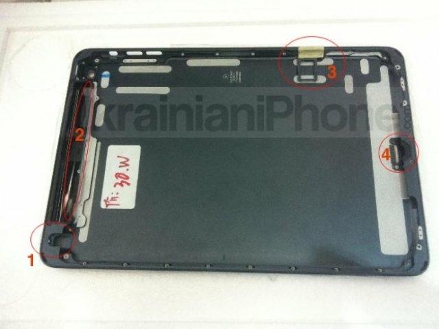 iPad Mini : de nouvelles photos de la coque arrière