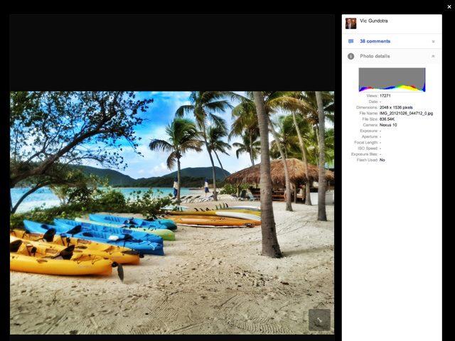 Nexus 10 : de nouvelles photos prises avec la tablette
