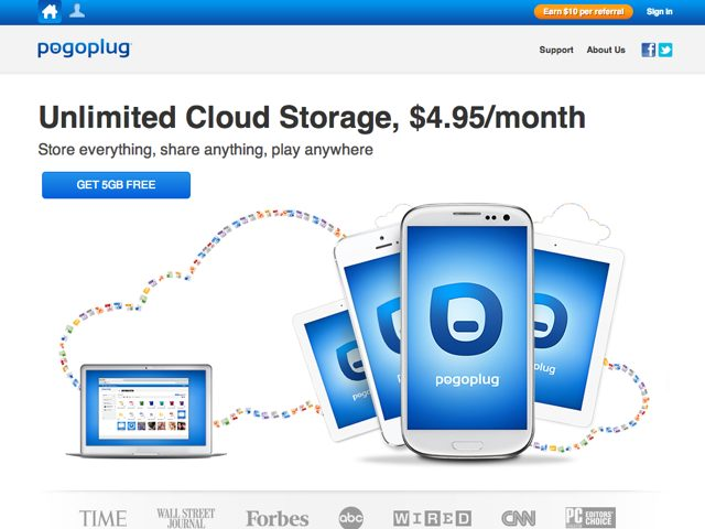 Pogoplug Cloud : stockage illimité à 4.95$ par mois !