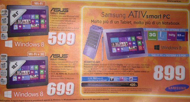 Windows 8 : les prix des tablettes commencent à tomber