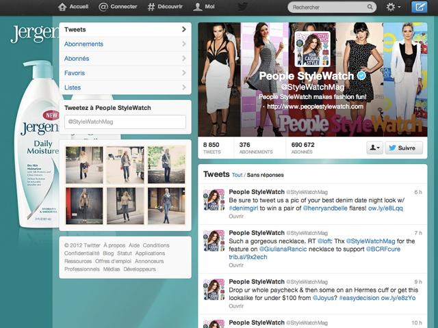 Twitter : de la publicité en arrière plan sur les profils, c'est possible !