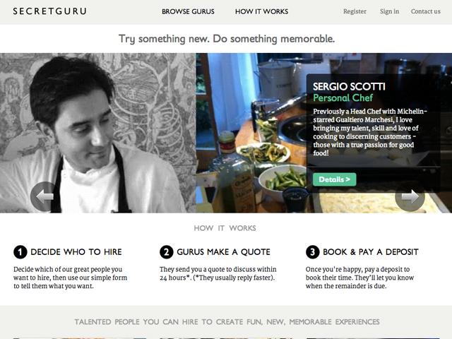 eBay va vendre des services au Royaume Uni avec SecretGuru