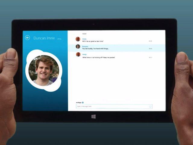 Skype sur Windows 8, la vidéo officielle