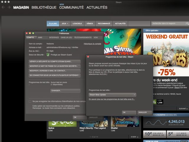 Steam : activer le Big Picture sur Mac OS X