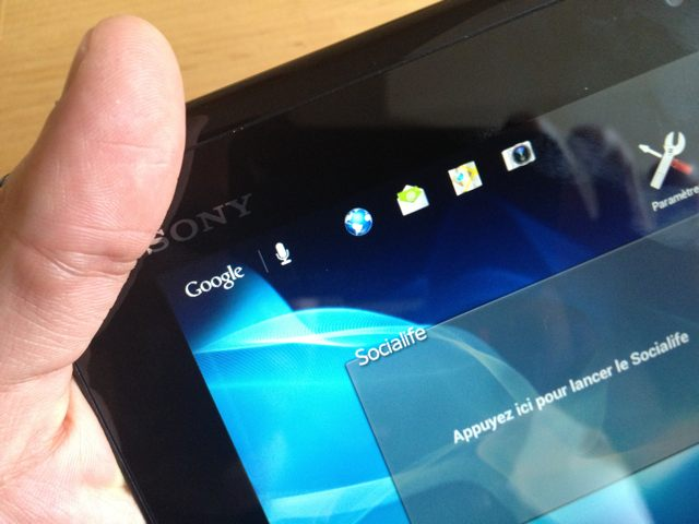 Test : Sony Xperia Tablet S