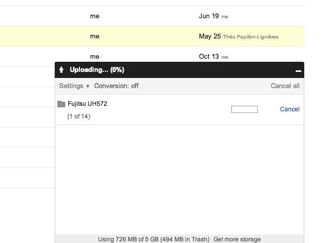 Google Drive accepte maintenant le téléversement de dossiers