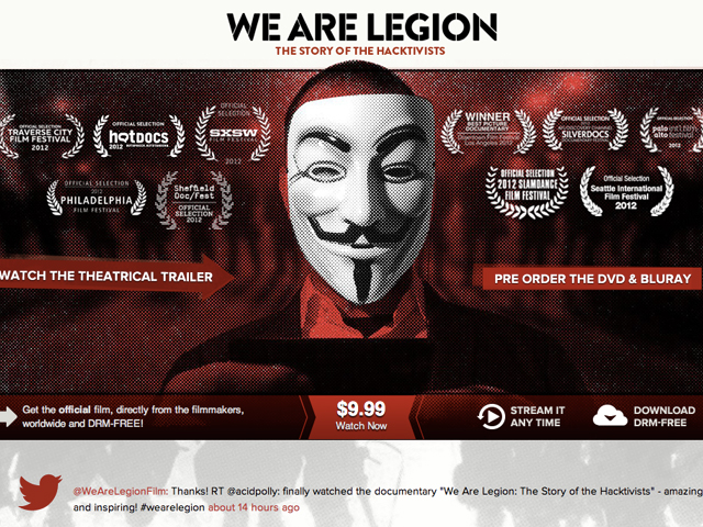 We Are Legion : le documentaire des Anonymous est disponible !