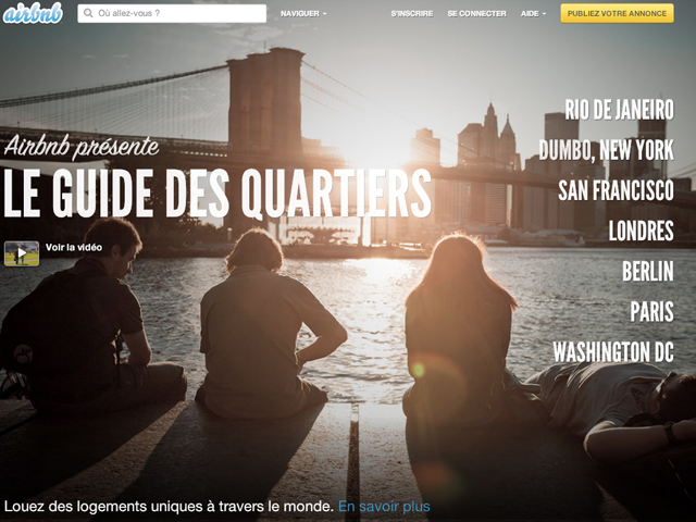 Airbnb peut maintenant faire office de guide de voyage