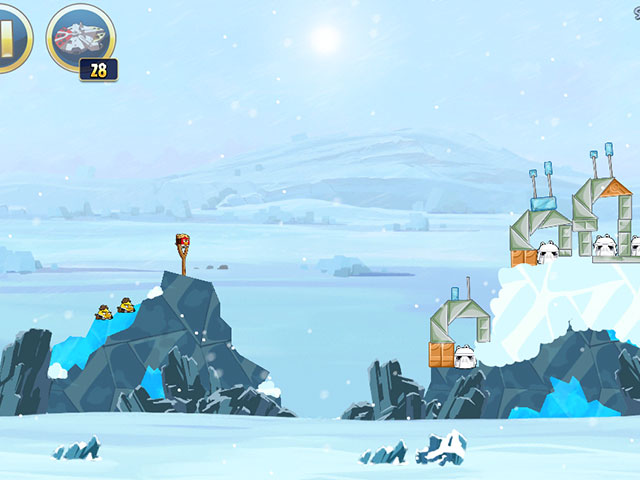 Angry Birds Star Wars : attaquons plutôt le tas de neige