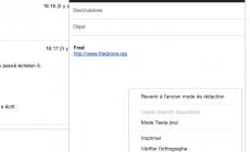 Gmail : revenir à l'ancien mode de rédaction