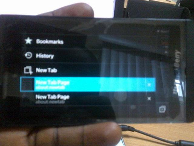 Le navigateur web de BlackBerry 10