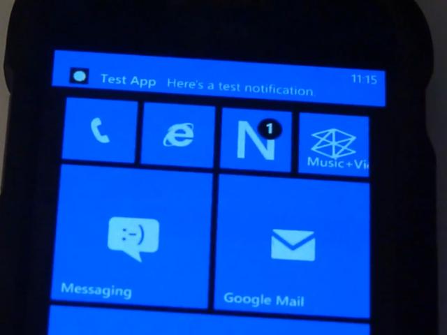Un centre de notifications maison pour Windows Phone