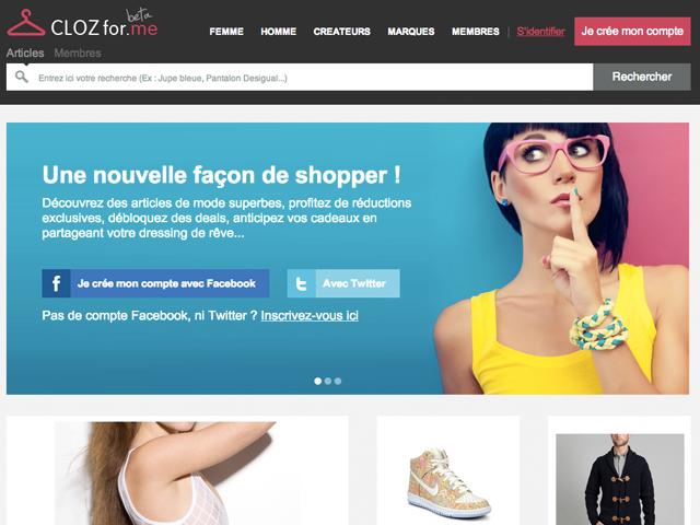 CLOZfor.me : le Pinterest de la mode