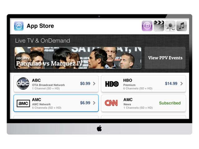 Concept iTV : l'AppStore (bis)