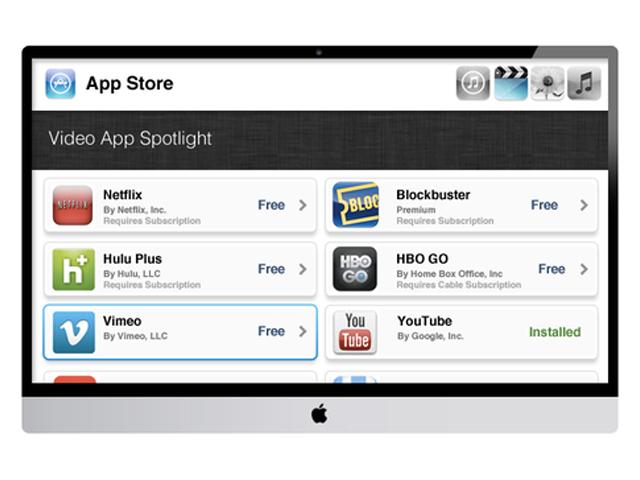 Concept iTV : l'AppStore (encore)