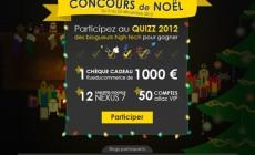 Concours de Noël : gagne une Nexus 7 et, peut-être, un chèque cadeau de 1.000€ !