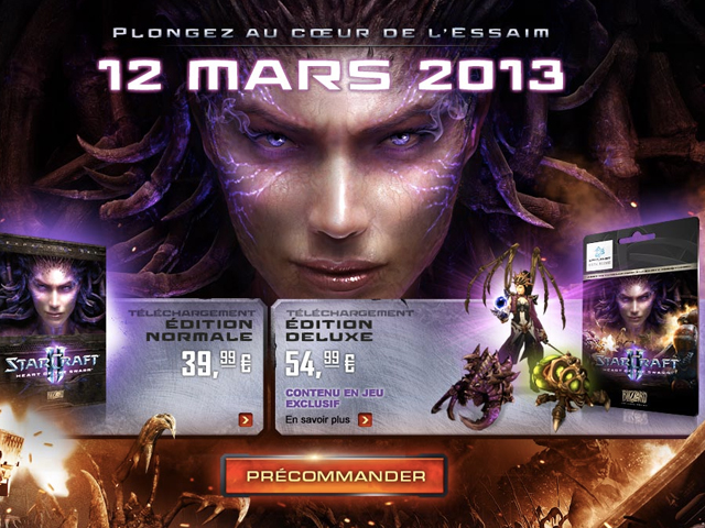 Starcraft II Heart of the Swarm : sortie le 12 mars 2013