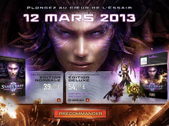 Starcraft II Heart of the Swarm : sortie le 12 mars 2013