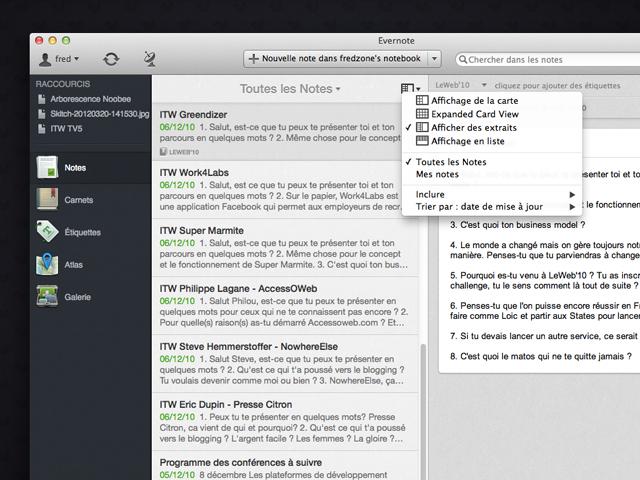 Evernote 5.0 bêta disponible sur Mac OS X !