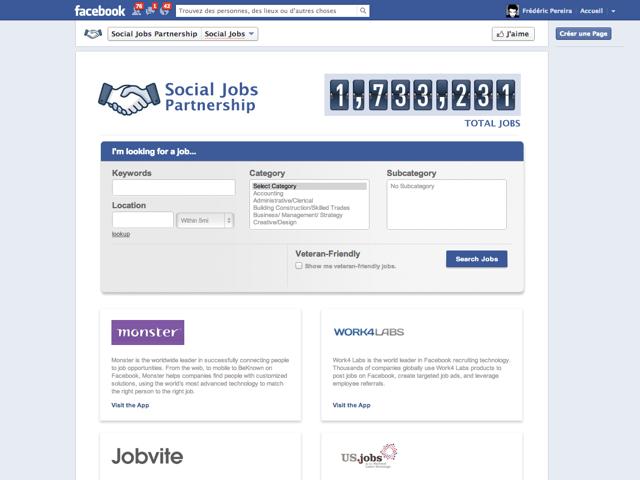 Social Jobs Partnership : trouver un emploi sur Facebook