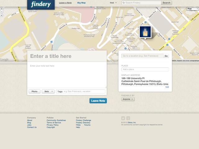 Findery : la note géolocalisée et publique