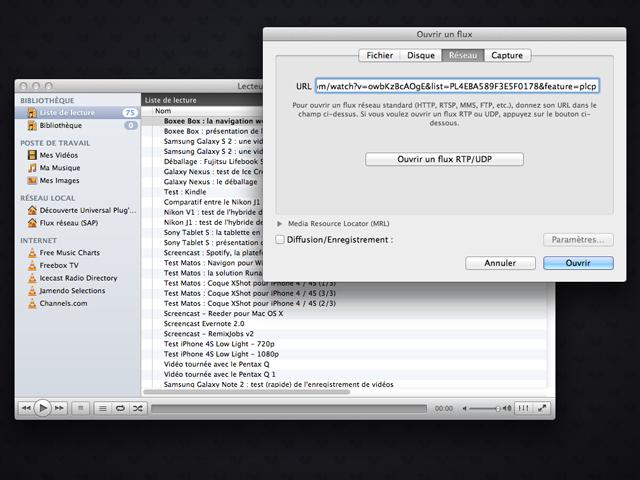 Lire les Playlists de YouTube dans VLC