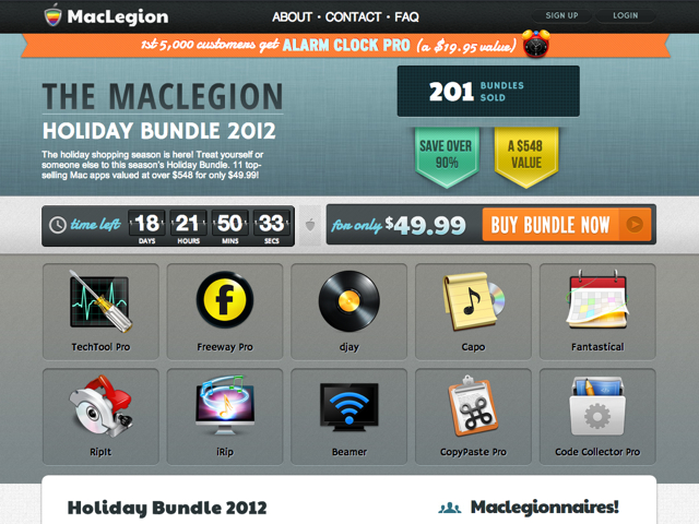 MacLegion Holiday Bundle 2012