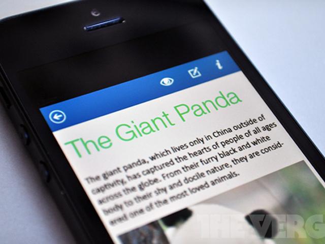 Microsoft Office pour iOS et Android : les premières captures et quelques infos au passage