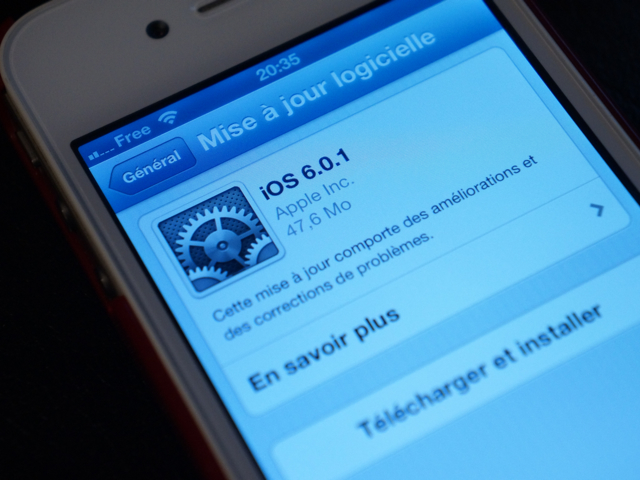 iOS 6.0.1 est disponible