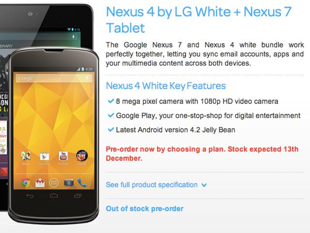 Un Nexus 4 blanc pour le 13 décembre ?