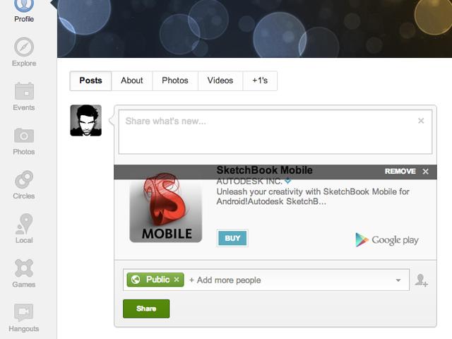 Google+ : intégration au Play Store et à Google Shopping