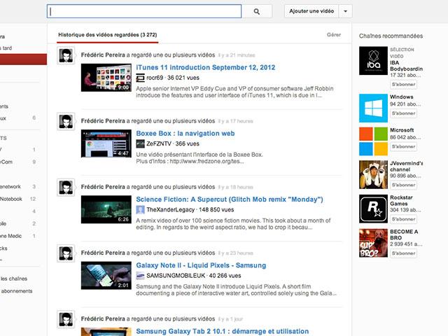 YouTube : la nouvelle page d'accueil