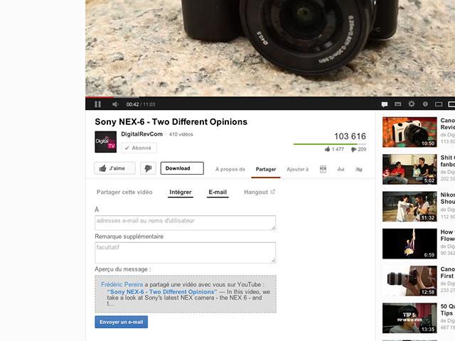 YouTube : une vue pour les vidéos similaires