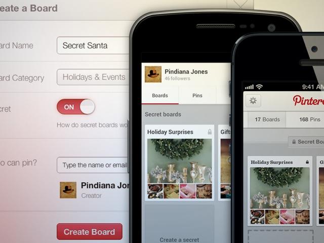 """Pinterest : lancement des """"Secret Boards"""" !"""