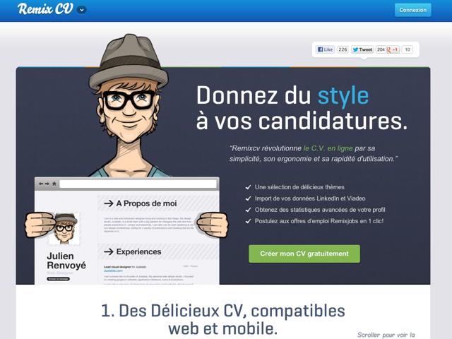 RemixCV : la création de CV en quelques clics