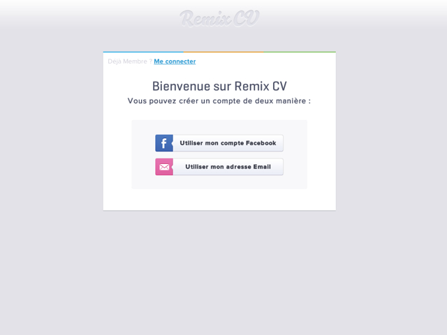 remixcv   la cr u00e9ation de cv en quelques clics