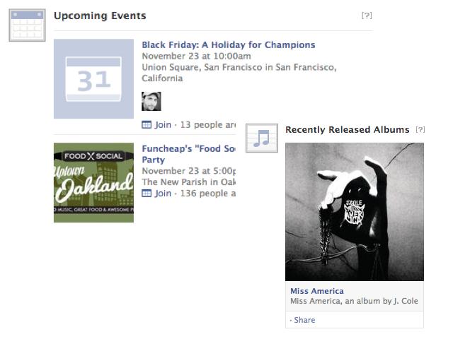 Facebook : vers la suggestion d'évènements dans le News Feed ?