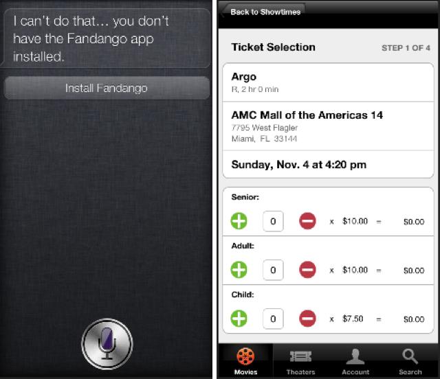 Siri va nous permettre d'acheter nos tickets de cinéma !