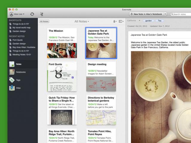 Evernote 5.0 est disponible sur Mac OS en version finale