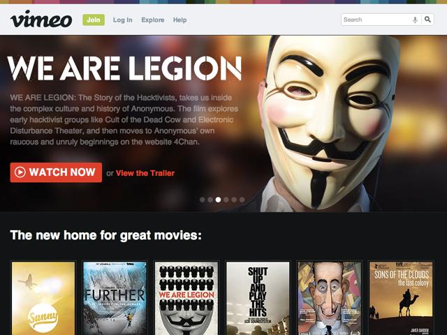 Vimeo : la location de vidéos fait ses premiers pas