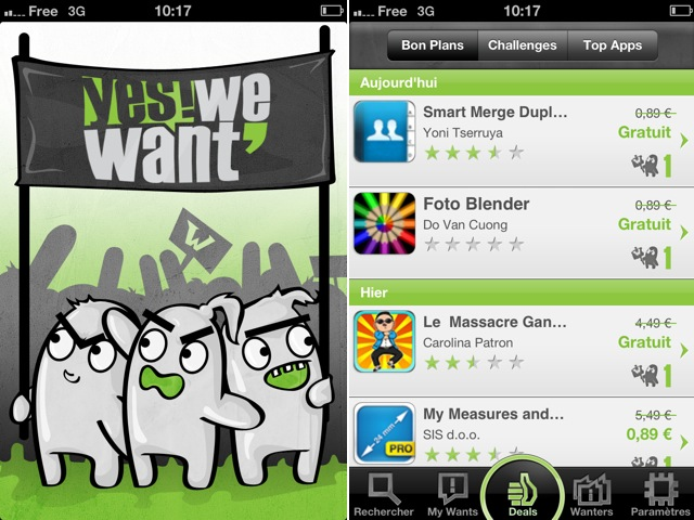 Yes We Want, pour choisir les promotions de l'AppStore