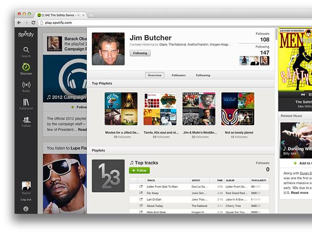 Le nouveau profil utilisateur de Spotify